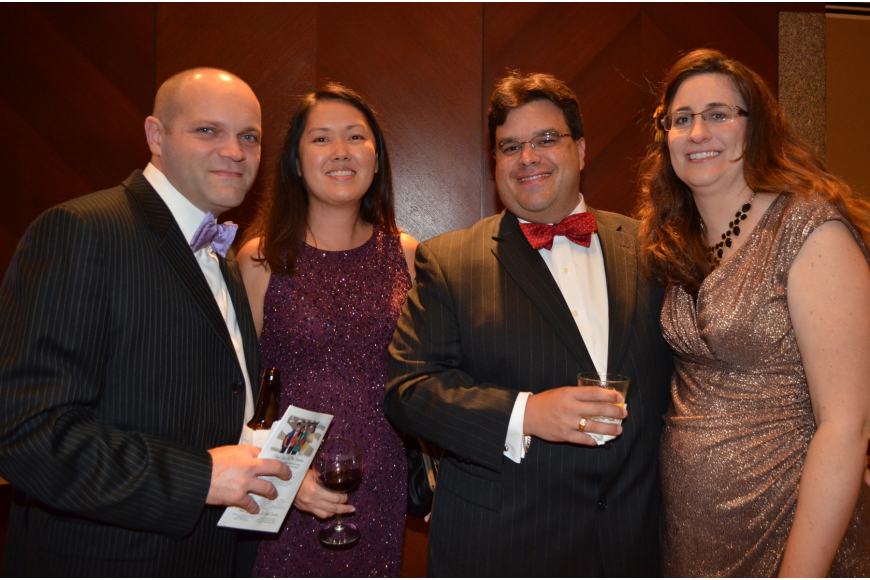 John Greenland and Joan Yuen with Brian and Alicia Skarber