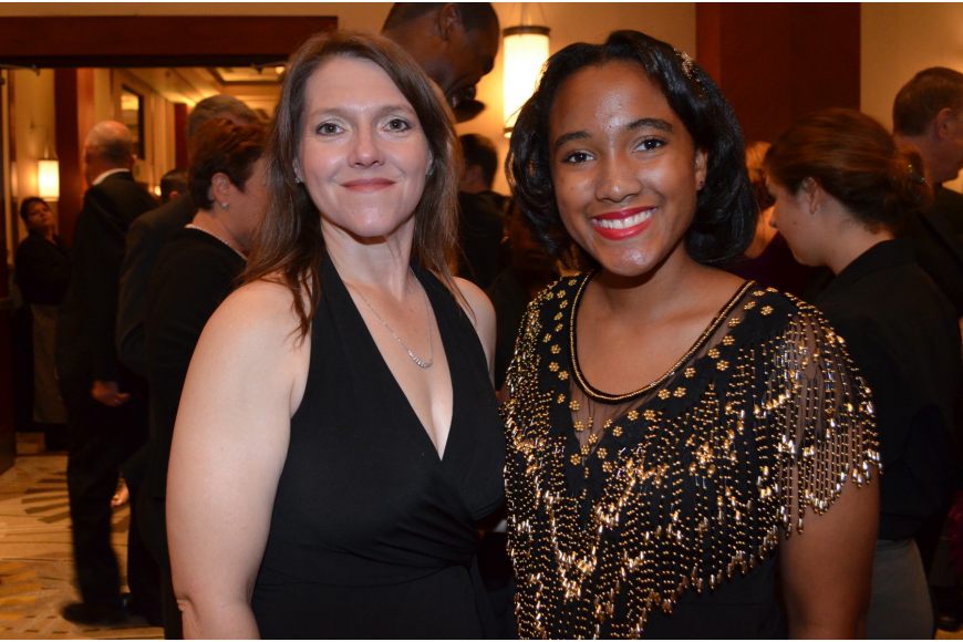 Roscelyn Guenther with 2013 BGCSC Youth of the Year Whitney Stewart