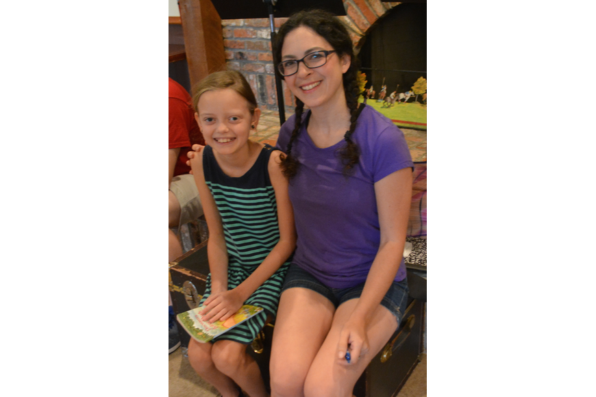 Lakewood Ranch's Reagan Graham, 10, gets an autograph from actress Eliza Engle.