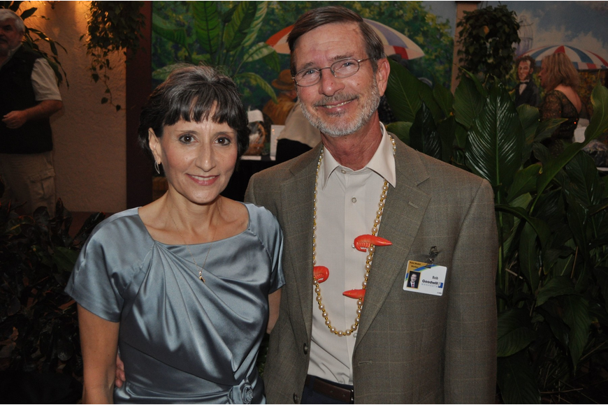 Ruth Williams and Bob Rosinsky, President and CEO at Goodwill Industries Manasota