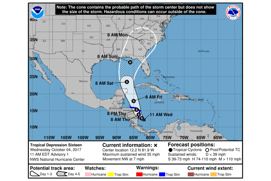 Tropics: Low pressure system could develop into tropical depression