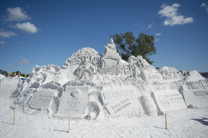 The sand sculpting event took place on Nov. 10-13 on Siesta Key Beach.