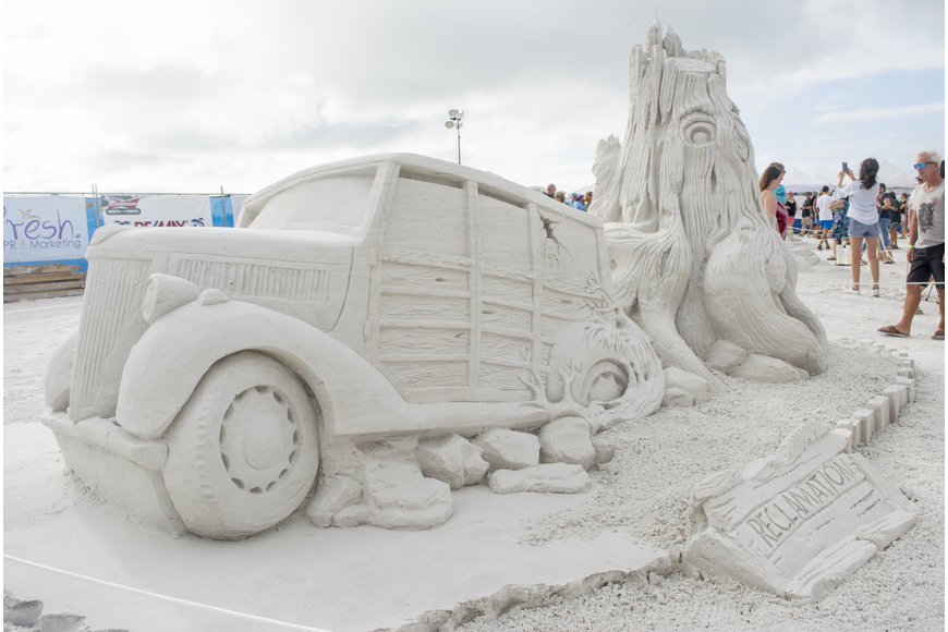 Reclamation took third place in the Crystal Classic International Sand Sculpting Festival.