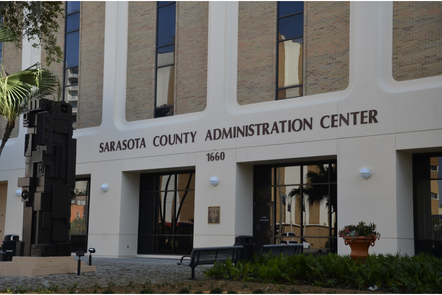 Pic of the Sarasota County administration building.