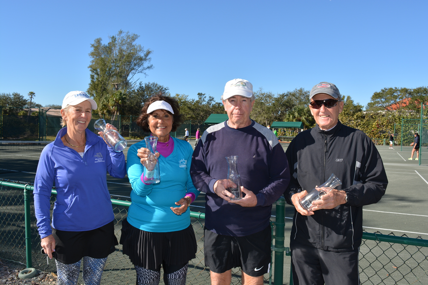 Ardeth Black, Christine Short, John Short and Bob Kelly took second place in Division 4.