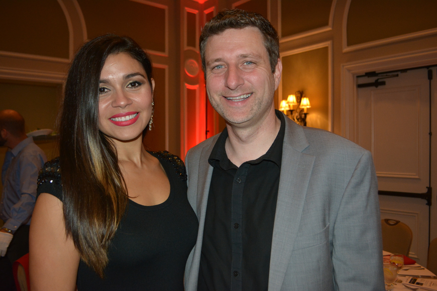 Farah Paret and her fiance, Daniel Laggan, of SchenkelShultz Architecture, came from Orlando to support the event.