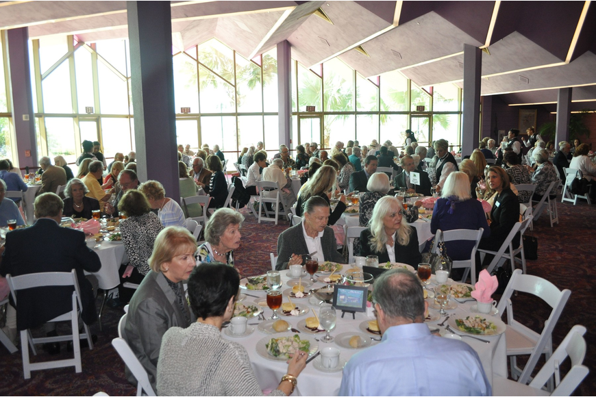 There were more than 190 people that took part in the luncheon following Dr. Benjamin Carson's afternoon Town Hall lecture.
