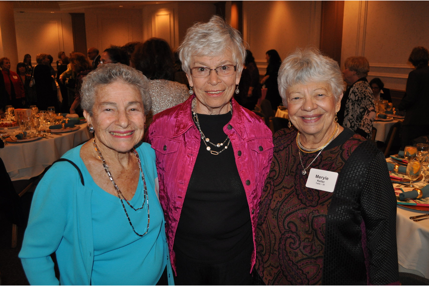 Bertha Person, Edie Sherman and Meryle Keller