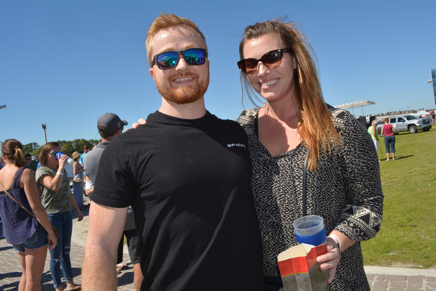 Bryan Couture and Sarah Gaboury, of Sarasota, are fans of all the craft beer available, but had not yet decided on a favorite.