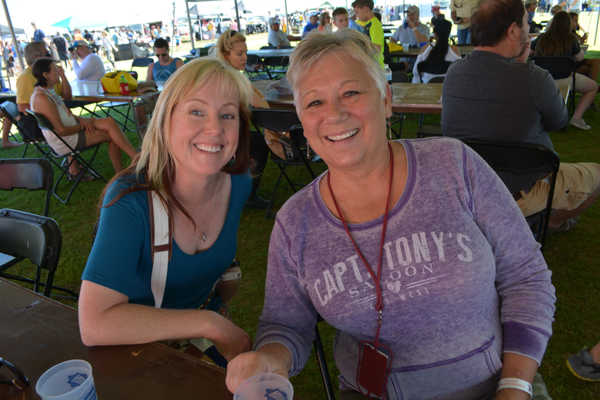 Lakewood Ranch's Jeannine Walter brought her friend Tina Christensen from St. Petersburg.