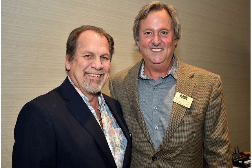 2018 Chamber Chairman Mark Meador and 2017 Chamber Chairman Mike Doll