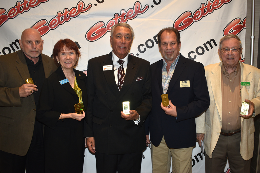 Good as Gold award recipients Vince LaPorta, Nancy Taussig, Andrew Vac, Mark Meador and Dick O'Dowd.