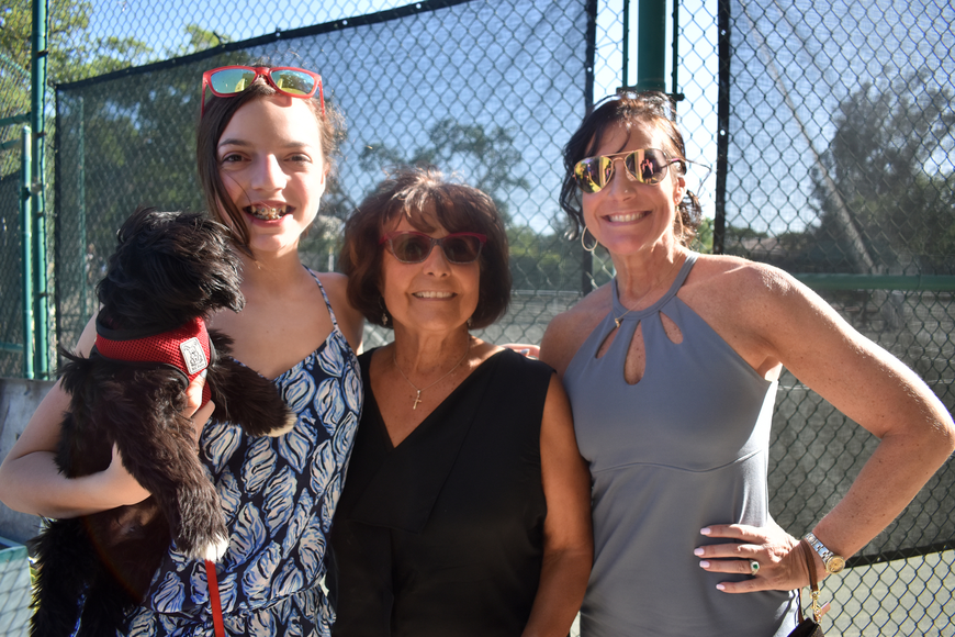Gianna Maher with Peanut, Christine Short and Dina Maher