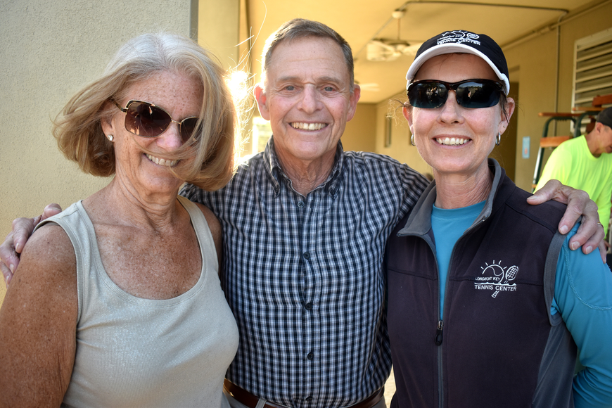 Laurin Goldner, Nelson Goldner and Tennis Center Director Kay Thayer
