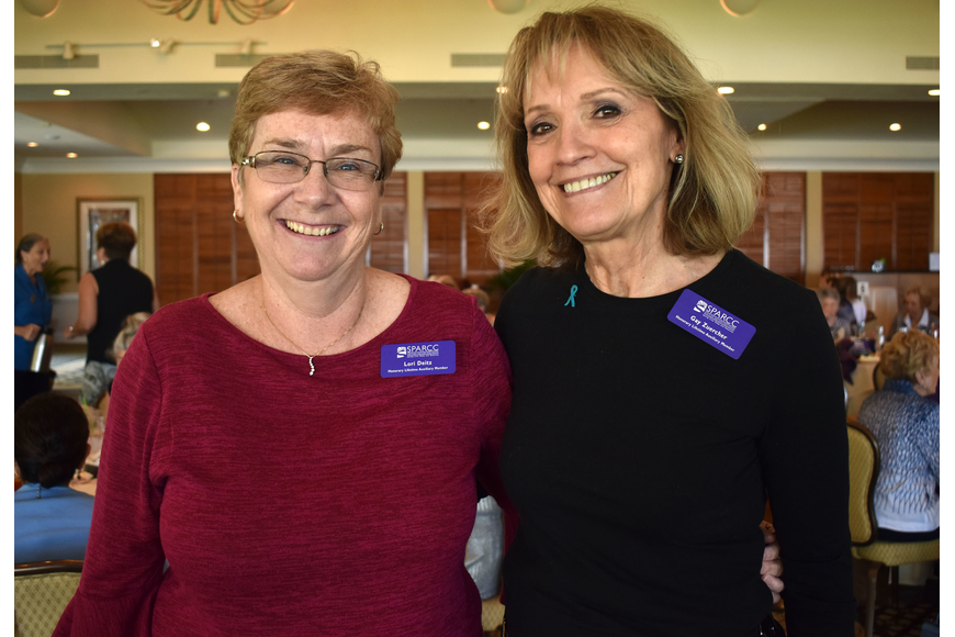Lori Deitz and Gay Zuercher were named honorary lifetime auxiliary members at the luncheon.