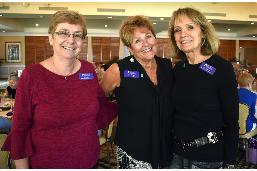 Honorary lifetime Auxiliary member Lori Deitz, Auxiliary President Linda Bergen and honorary lifetime Auxiliary member Gay Zuercher