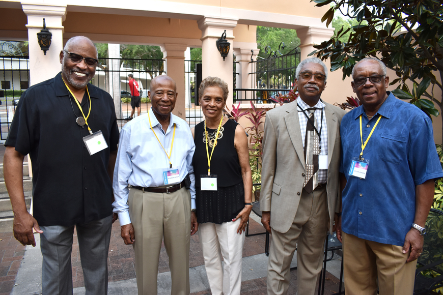 George Miles, Dr. Bernard and Lois Watson, Dr. James Stewart and Dr. Don Johnson