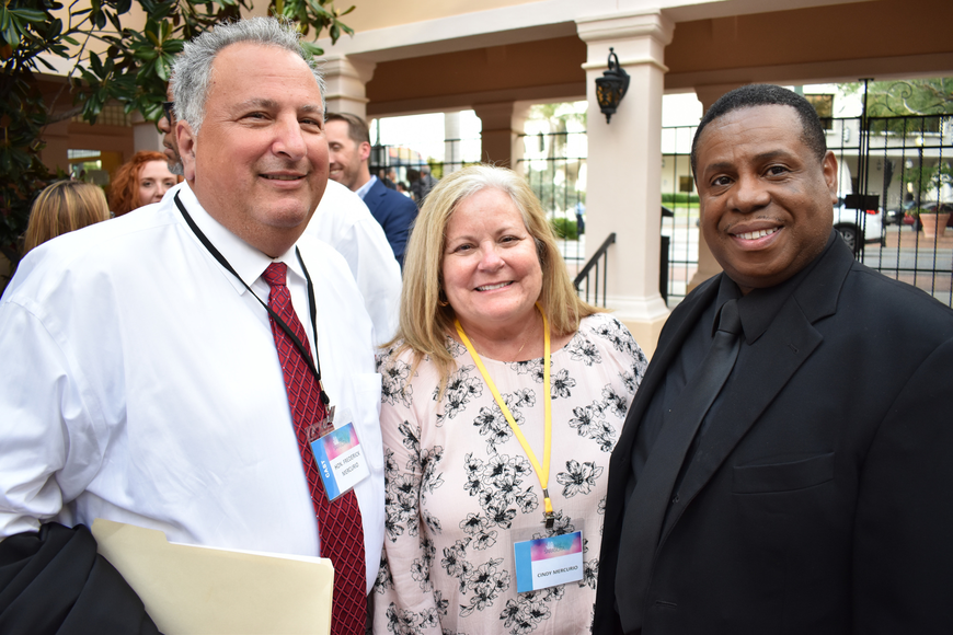 Honorable Frederick and Cindy Mercurio with Nate Jacobs