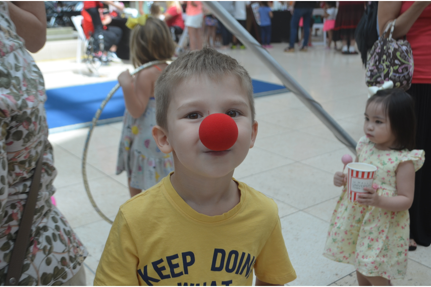 Parrish's Brexton Sullivan, 4, likes watching the circus but doesn't think he wants to join.
