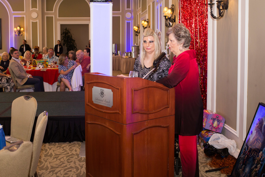 Samantha and Alice Bozza thank guests for coming and tell Samantha's story.