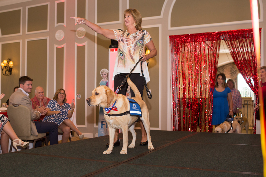 Proceeds from the night went to Southeastern Guide Dogs.