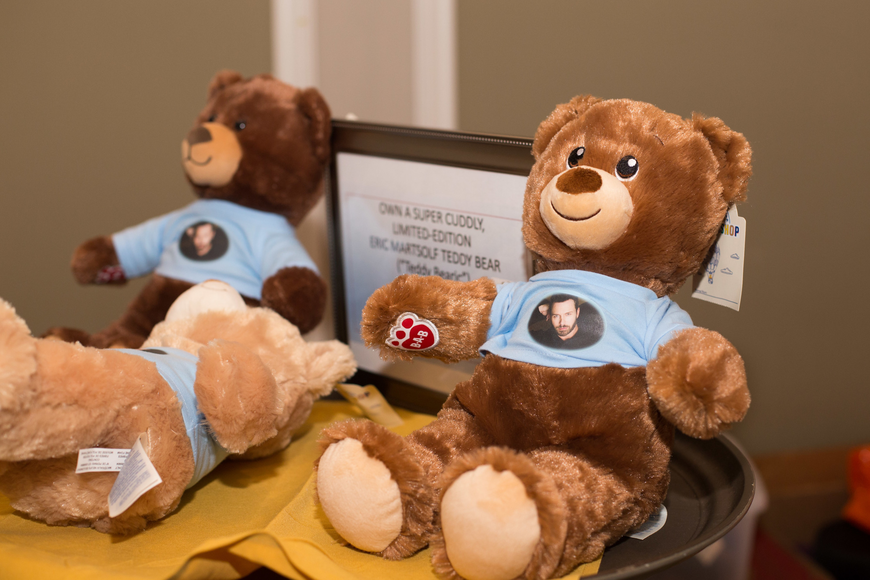 Guests were able to buy Bears Who Care with actor Eric Martsolf's face on them.