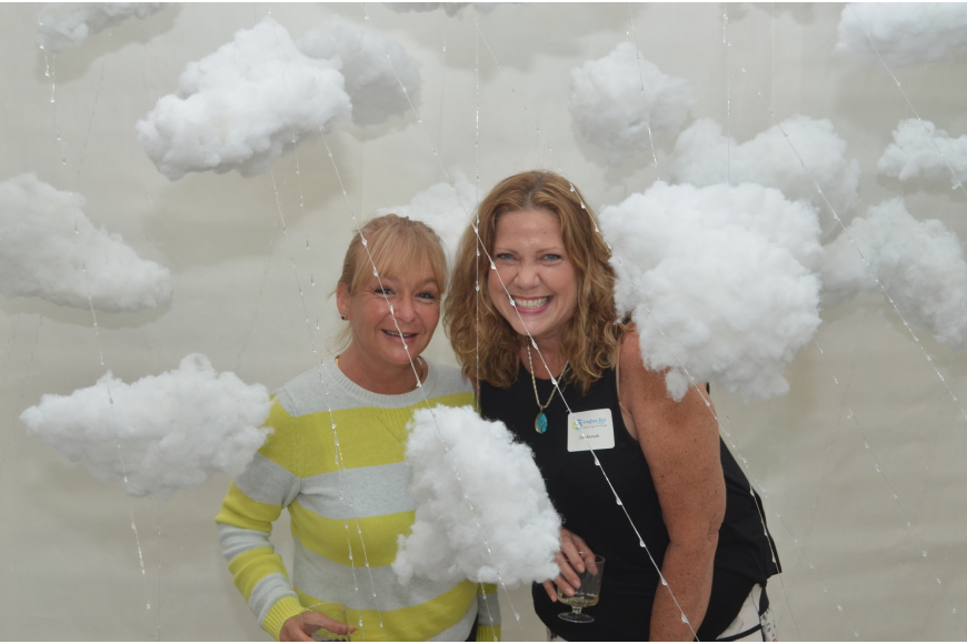 Tiffany Murray and Laura Henry inside Natalya Swanson's cloud piece in the