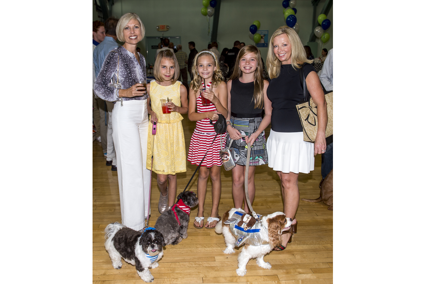 Melissa, Hannah and Madeline Stevens, Crystal and Ella Lahners with Lola, Zoe and Gracie