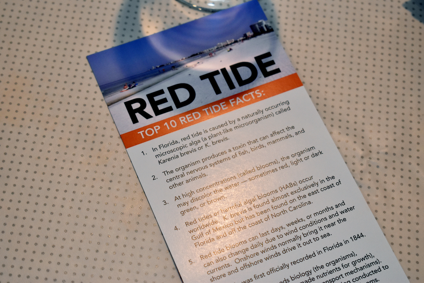 Mote Marine Laboratory scientist Tracy Fanara educated attendees on red tide.