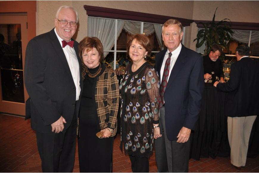 Mike and Marie Pender with Susan and John Scott