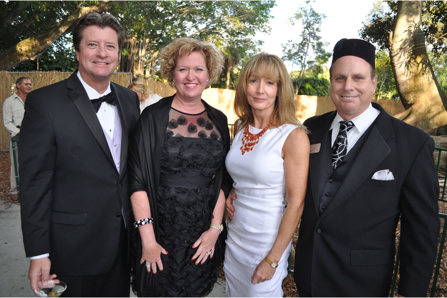 Pete Britton, Michele Weaver with Lynn and Chris Romine