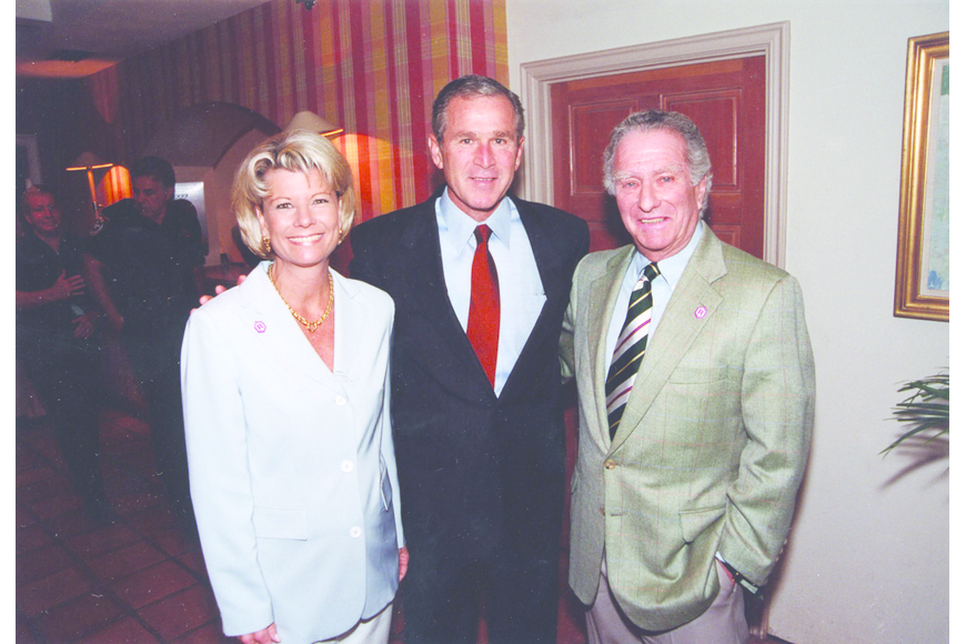 George W. Bush, posing with Klauber and his daughter, Katie, spent the night of Sept. 10, 2001 at the Colony Beach & Tennis Resort, heading to Sarasota the next morning for a school appearance.