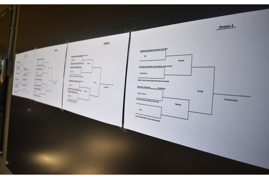 The tournament bracket was revealed during the party.