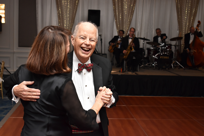 Dr. Ed Williams dances with Nancy Hewett.