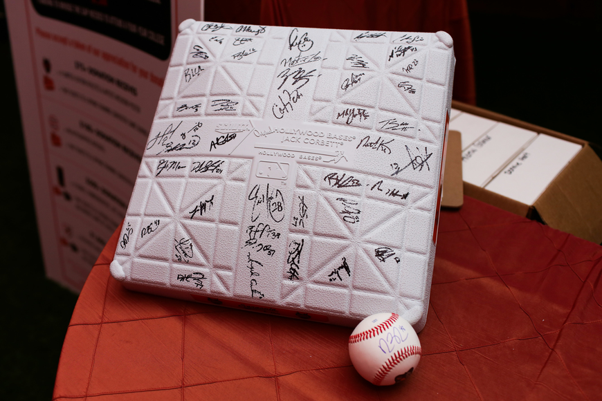 A player signed base was available in the auction.