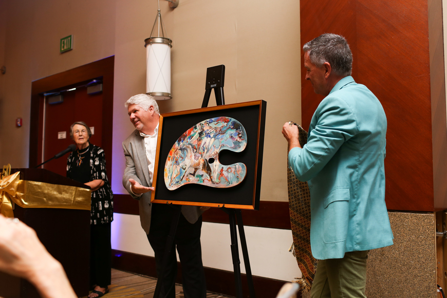 Eric Bowyer and Peter Imrik reveal the newly recovered painting.