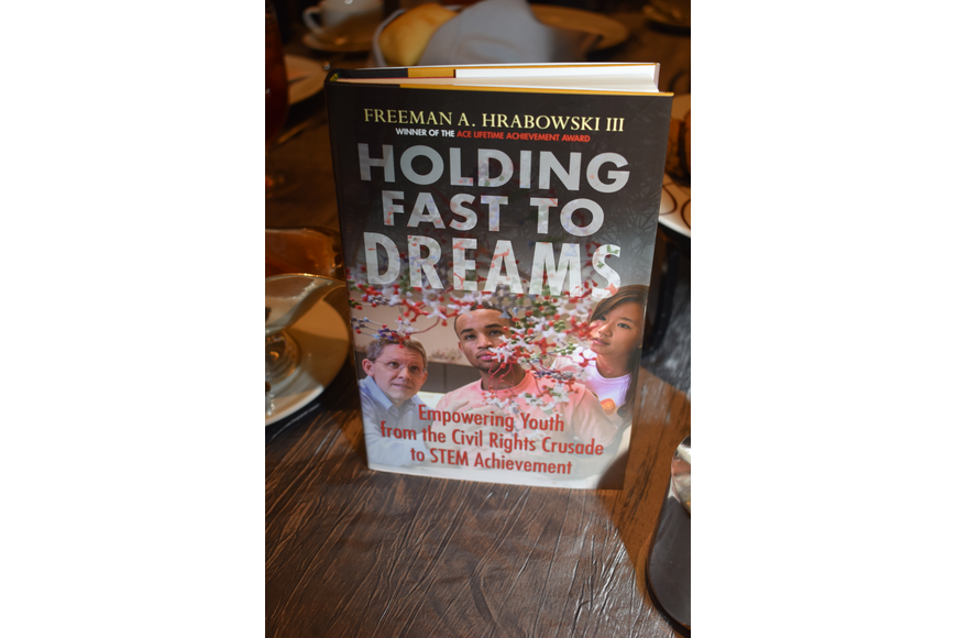 Dr. Freeman A. Hrabowski's book was given out to attendees of the luncheon.