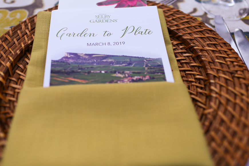 The Garden to Plate Wine Dinner is hosted each spring.