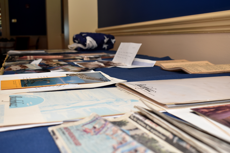 Old letters and photographs were on display to show the history of Beachplace.