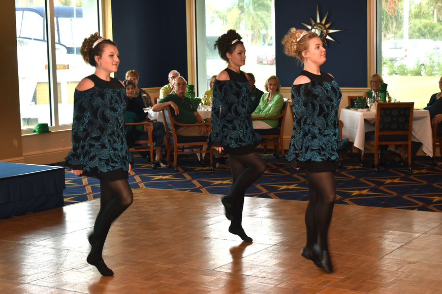 Dancers from the Irish Dance Academy of Sarasota perform for guests.