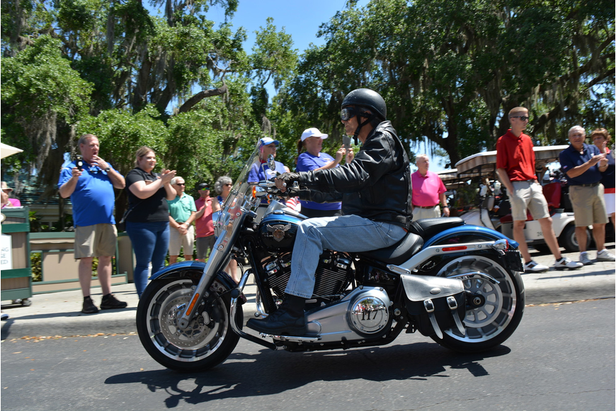 More than 30 motorcyclists rode in to Rosedale as part of the opening ceremonies.