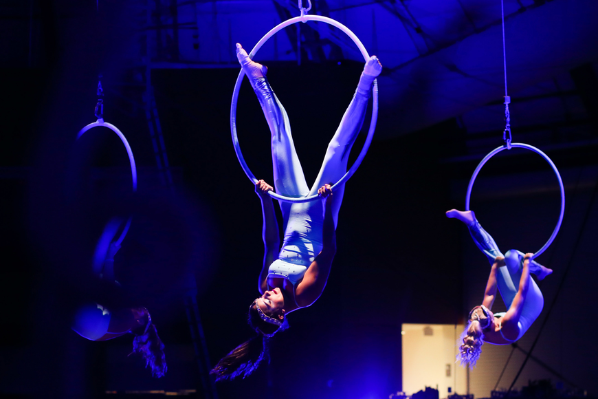 The ladies of the aerial Lyra were next.