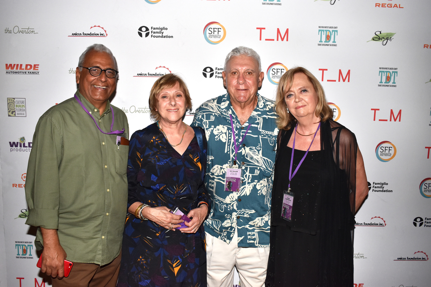 Dilip and Dominique Varma with Nat Colletta and Lynne Partington