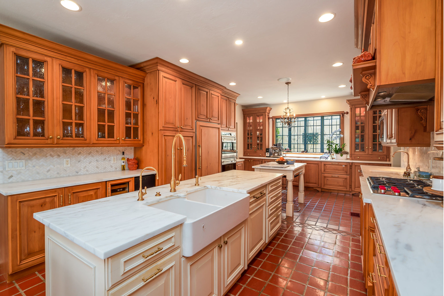The kitchen has been fully renovated with modern amenities.