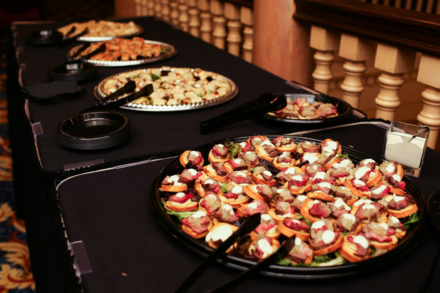 Light appetizers were served at the reception.
