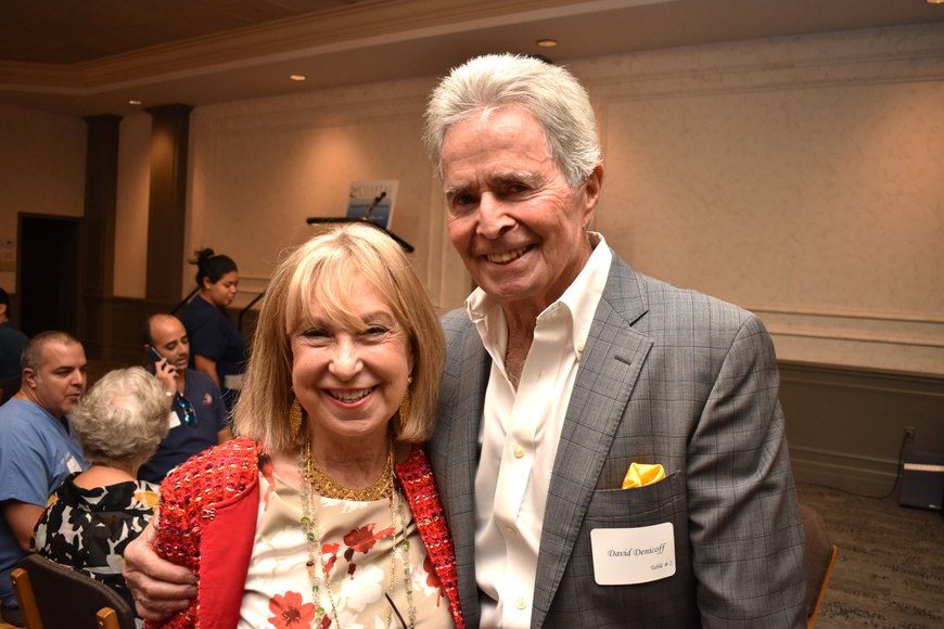 Leslie Glass, founder of Reach Out Recovery, and David Denicoff