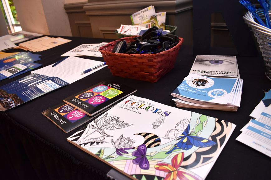Reach Out Recovery provided educational materials such as a pamphlet explaining what to do in the case of an opioid overdose along with recovery materials like an adult coloring book.