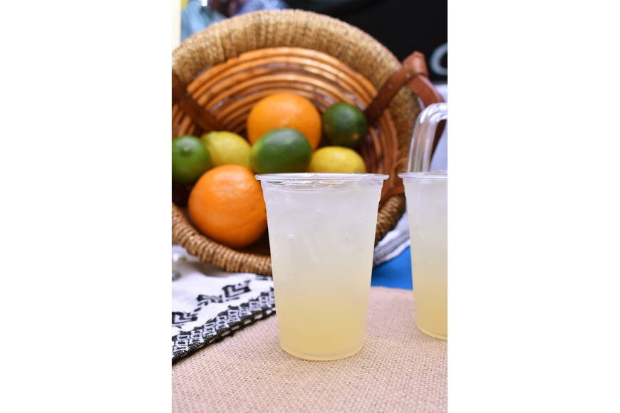 The Azunia tequila booth served an organic skinny margarita.