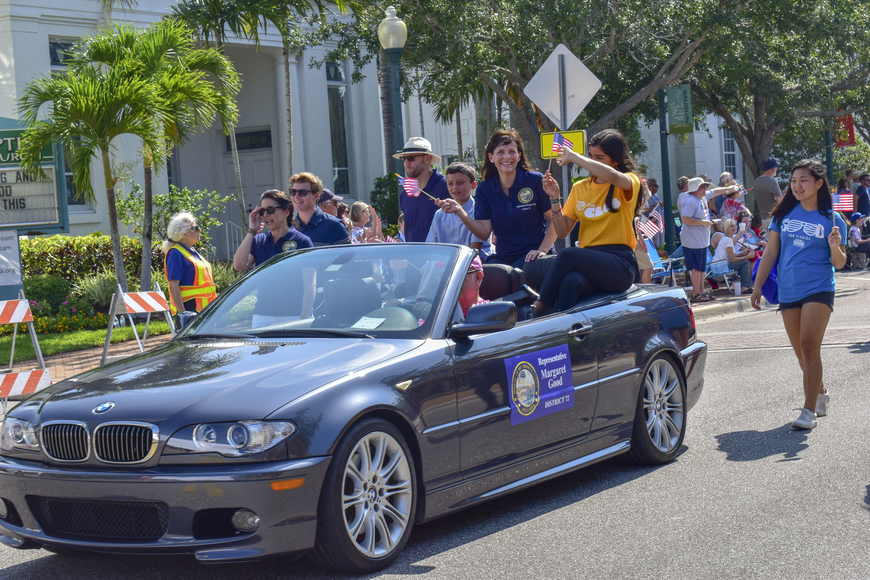 Rep. Margaret Good D- Sarasota (middle) participates in the Memorial Day Parade.