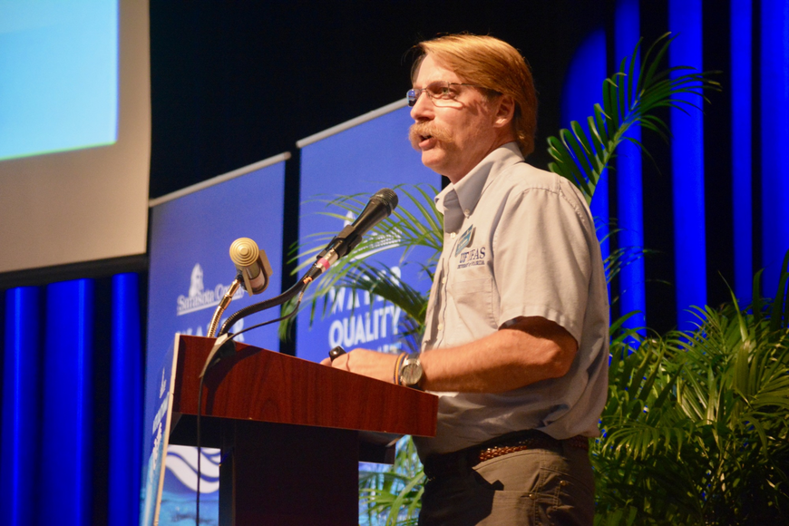 Pat Williams, a residential horticulture agent for Sarasota County, spoke during the summit